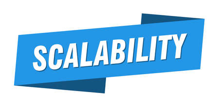scalability banner template. scalability ribbon label sign