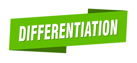 differentiation banner template. differentiation ribbon label sign