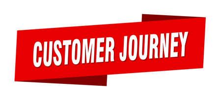customer journey banner template. customer journey ribbon label sign