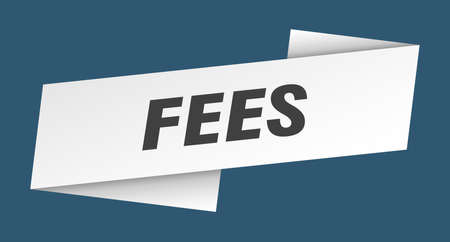fees banner template. fees ribbon label sign
