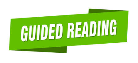 guided reading banner template. guided reading ribbon label sign