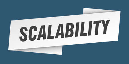 scalability banner template. scalability ribbon label sign 向量圖像
