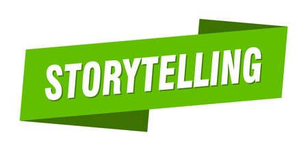 storytelling banner template. storytelling ribbon label sign