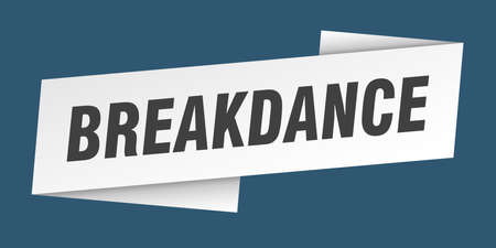 breakdance banner template. breakdance ribbon label sign Çizim