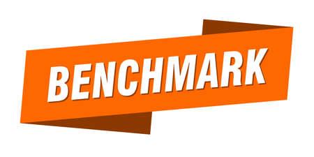 benchmark banner template. benchmark ribbon label sign