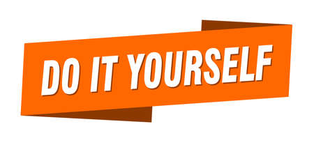 do it yourself banner template. do it yourself ribbon label sign