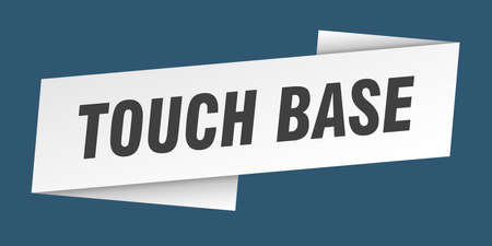 touch base banner template. touch base ribbon label sign