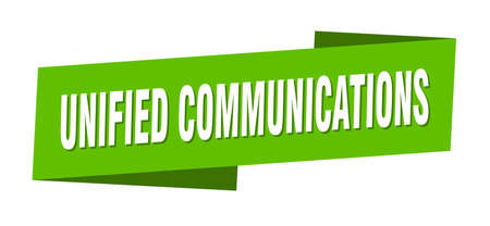 unified communications banner template. unified communications ribbon label sign