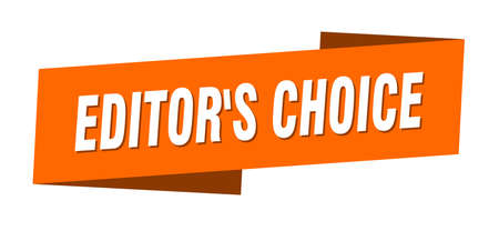 editor's choice banner template. editor's choice ribbon label sign Stock Illustratie