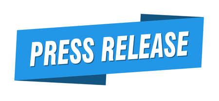 press release banner template. press release ribbon label sign