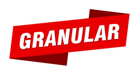 granular banner template. granular ribbon label sign