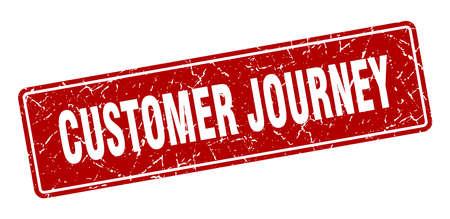 customer journey stamp. customer journey vintage red label. Sign