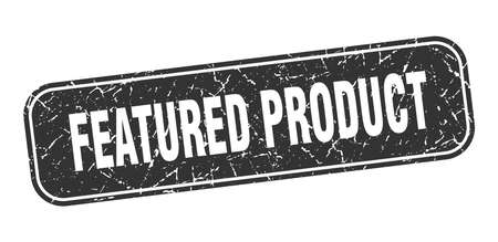 featured product stamp. featured product square grungy black sign Ilustração