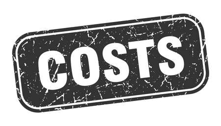 costs stamp. costs square grungy black sign