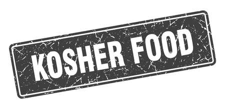 kosher food stamp. kosher food vintage black label. Sign Illustration