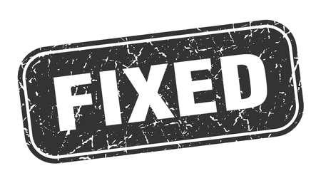 fixed stamp. fixed square grungy black sign Illusztráció