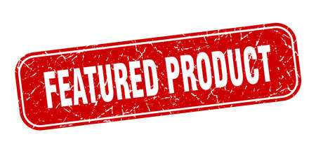 featured product stamp. featured product square grungy red sign