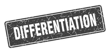 differentiation stamp. differentiation vintage black label. Sign