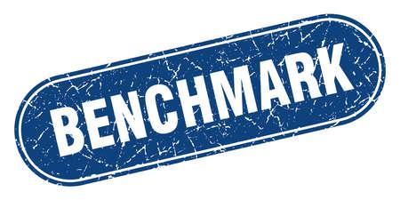 benchmark sign. benchmark grunge blue stamp. Label