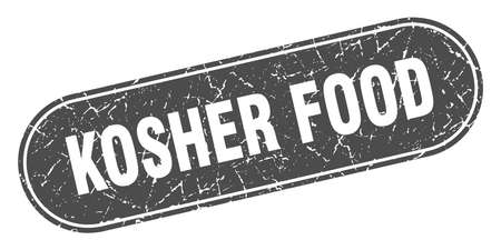 kosher food sign. kosher food grunge black stamp. Label