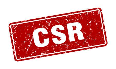 csr stamp. csr vintage red label. Sign