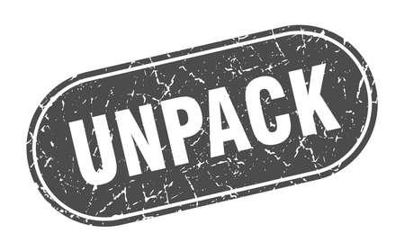 unpack sign. unpack grunge black stamp. Label Illustration