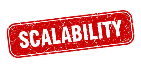 scalability stamp. scalability square grungy red sign