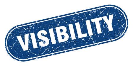 visibility sign. visibility grunge blue stamp. Label Vektoros illusztráció