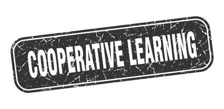 cooperative learning stamp. cooperative learning square grungy black sign Illustration