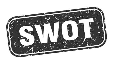 swot stamp. swot square grungy black sign