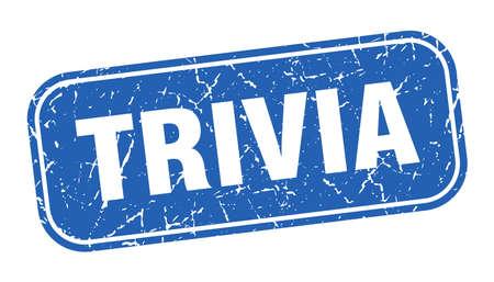 trivia stamp. trivia square grungy blue sign Illustration