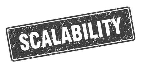 scalability stamp. scalability vintage black label. Sign