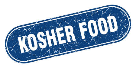 kosher food sign. kosher food grunge blue stamp. Label