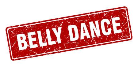 belly dance stamp. belly dance vintage red label. Sign