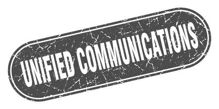 unified communications sign. unified communications grunge black stamp. Label