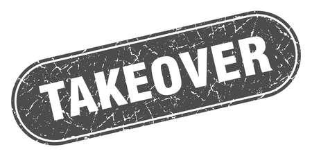 takeover sign. takeover grunge black stamp. Label 向量圖像