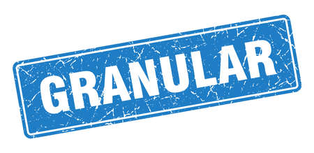 granular stamp. granular vintage blue label. Sign 矢量图像