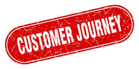 customer journey sign. customer journey grunge red stamp. Label