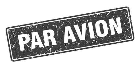par avion stamp. par avion vintage black label. Sign