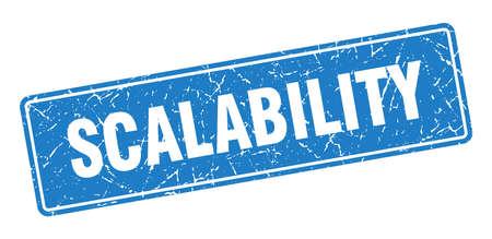 scalability stamp. scalability vintage blue label. Sign 向量圖像
