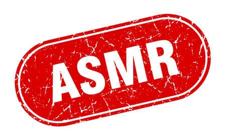 asmr sign. asmr grunge red stamp. Label