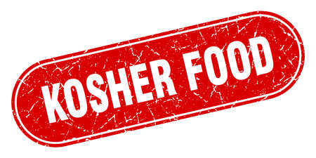 kosher food sign. kosher food grunge red stamp. Label