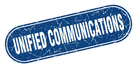 unified communications sign. unified communications grunge blue stamp. Label Çizim