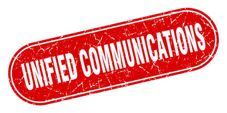 unified communications sign. unified communications grunge red stamp. Label