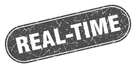 real-time sign. real-time grunge black stamp. Label Illustration