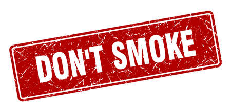 don't smoke stamp. don't smoke vintage red label. Sign