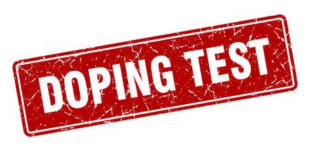 doping test stamp. doping test vintage red label. Sign