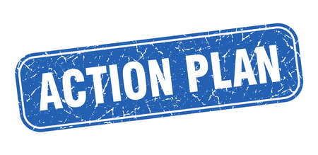 action plan stamp. action plan square grungy blue sign