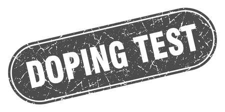 doping test sign. doping test grunge black stamp. Label