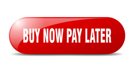 buy now pay later button. buy now pay later sign. key. push button. Vetores